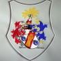 Stickerei Stickpunkt Familienwappen, sticken Wappen, besticken Kleidung