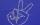 Stickpunkt Strass Viktoryhandzeichen V 143 Crystal Weiß