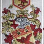 Wappen Vogelsgesang erstellt von Stickerei Stickpunkt