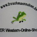 Stickerei Stickpunkt Froschmännchen western online shop