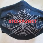 Stickpunkt Spinnennetz auf Mund-Nase-Abdeckung